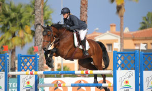 Oliva, Spain - 2018 October 13: Gold tour 1m30 during CSI Mediterranean Equestrian Autumn Tour I