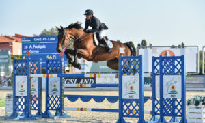 Oliva, Spain - 2018 October 6: Gold tour 1m35 during CSI Mediterranean Equestrian Autumn Tour I (photo: 1clicphoto.com)